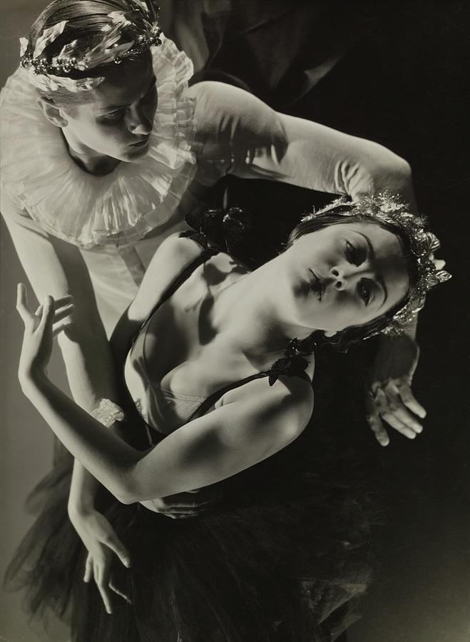 Tamara Toumanova and Roman Jasinskii in the Ballet Mozartiana Photograph by George Hoyningen-Huene