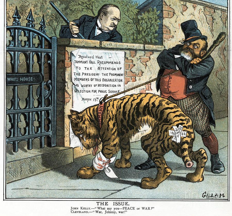 Tammany Hall Cartoon, 1885 by Bernhard Gillam