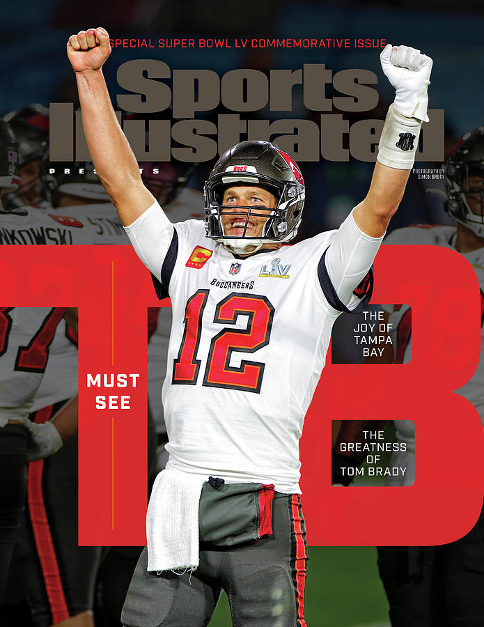 Tampa Bay Bucs Tom Brady Super Bowl LV Commemorative Issue Cover Photograph by Sports Illustrated
