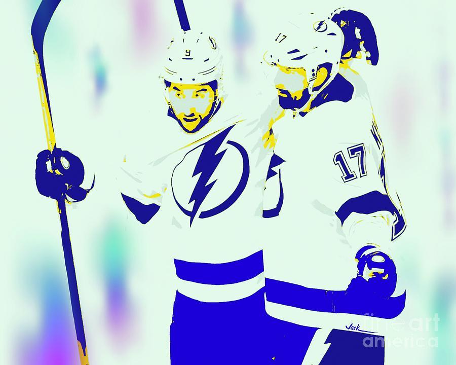Lightning Painting - Tampa Bay Lightning by Jack Bunds