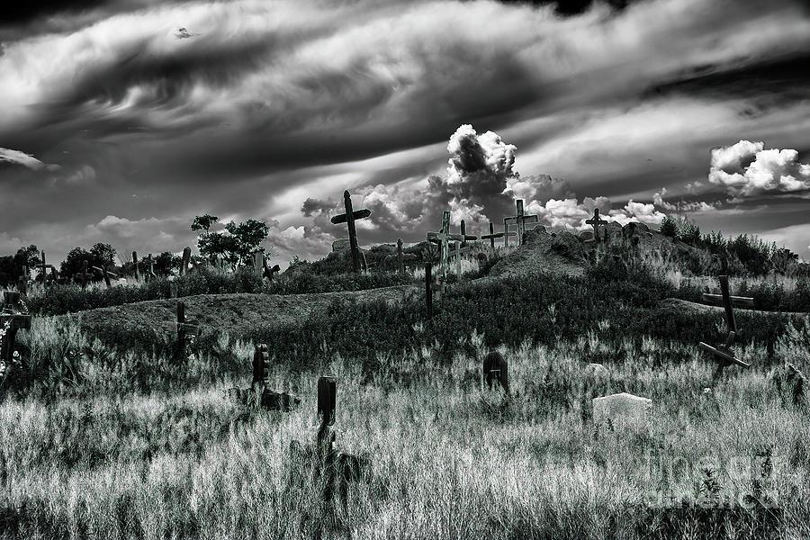 San Geronimo Photograph - Taos Pueblo Cemetery by Felix Lai
