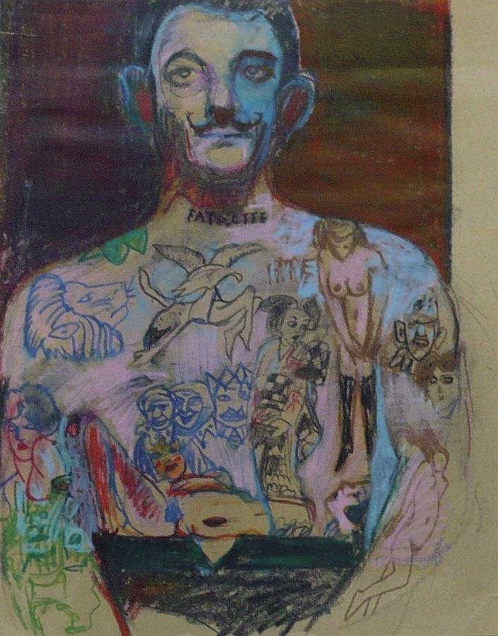 Tattoos Painting - Tattooed Man by Galya Tarmu