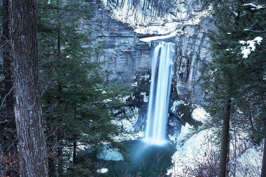 Taughannock Falls Winter Waterfall Trumansburg New York Taughannock State Park by Toby McGuire