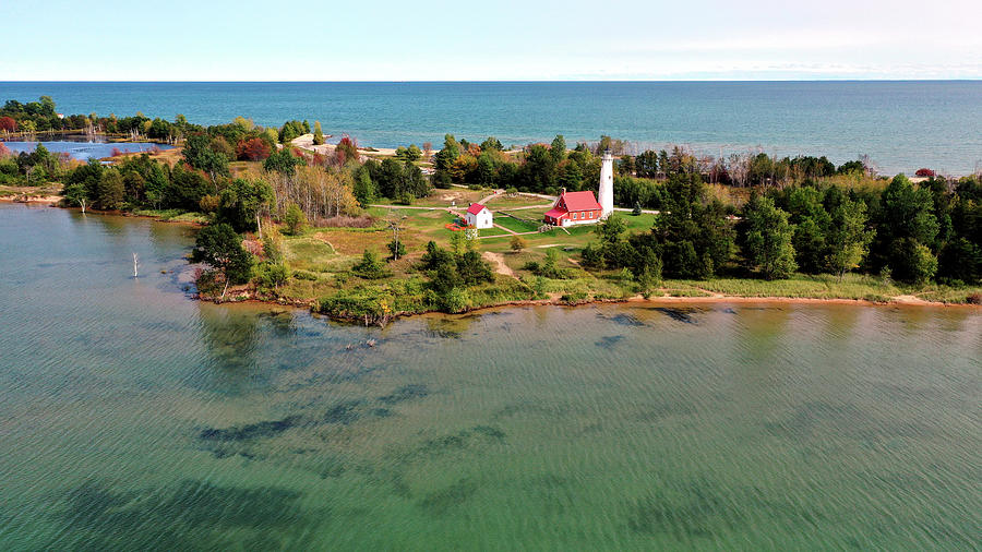Tawas Point Lighthouse In Michigan Photograph