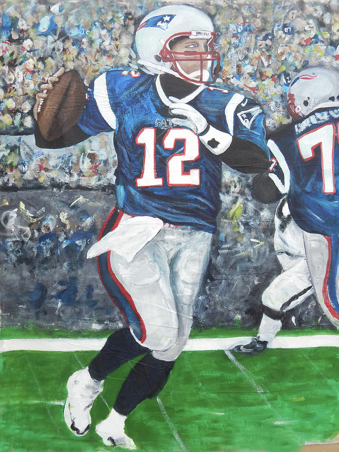 Tb12 Mixed Media - Tb12goat by Jorge Delara