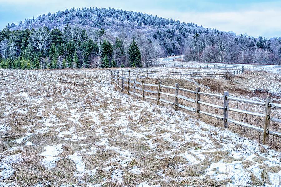 Tea Creek Meadow with Snow by Thomas R Fletcher