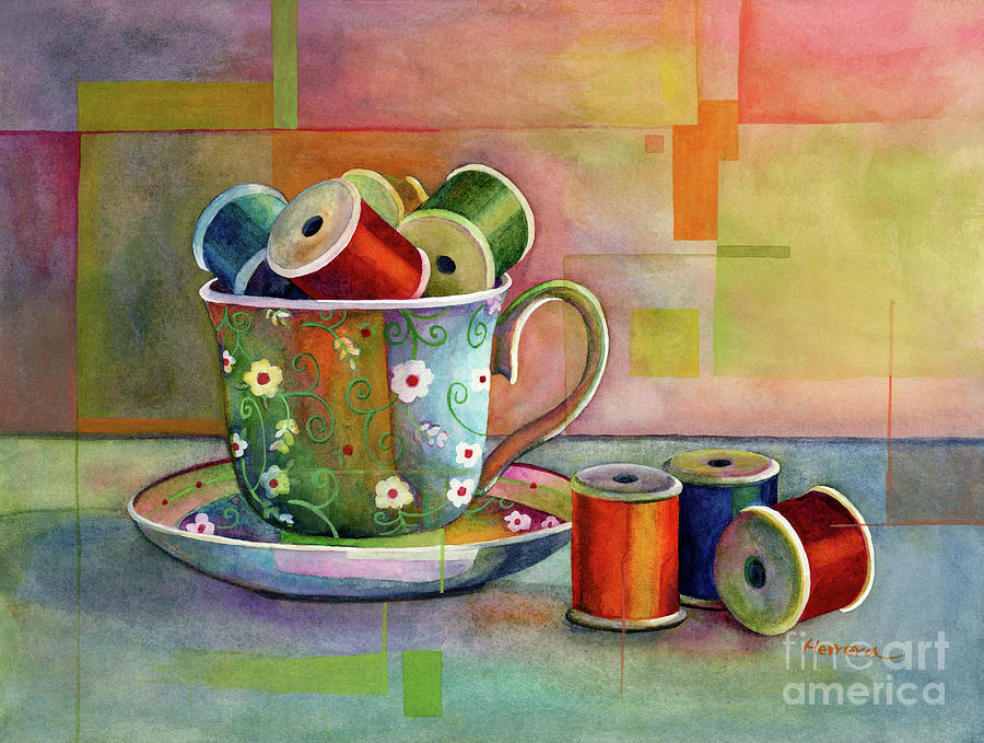 Teacup And Spools Painting