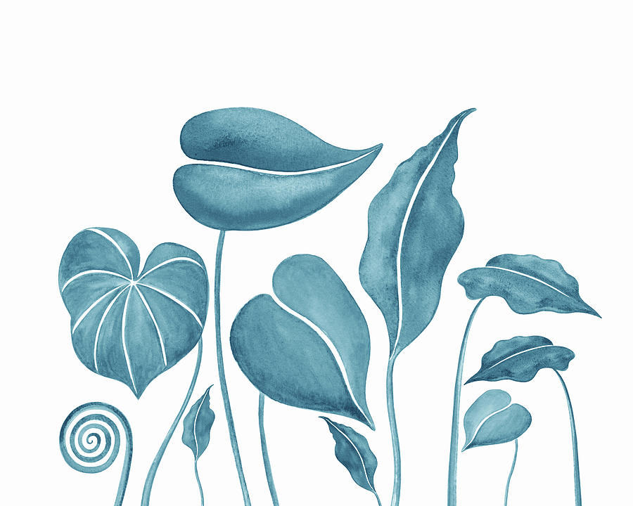 Teal Blue Watercolor Exotic Tropical Leaves Painting By Irina Sztukowski Subscribe to envato elements for unlimited graphics downloads for a single monthly fee. teal blue watercolor exotic tropical leaves by irina sztukowski