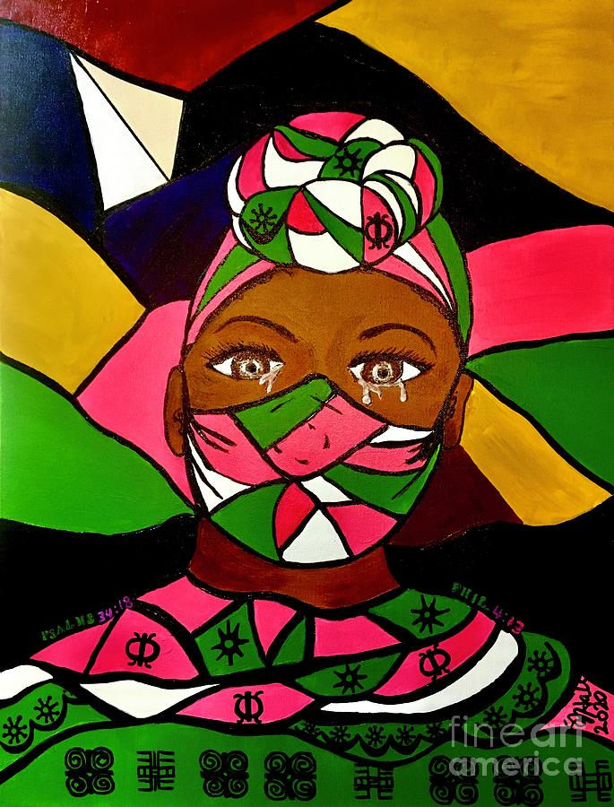 Black Lives Matter Painting - Tears of Injustice by Sheila J Hall