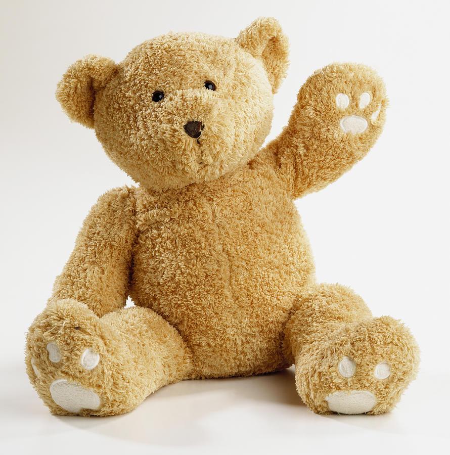 Teddy bear waving Photograph by Dave King