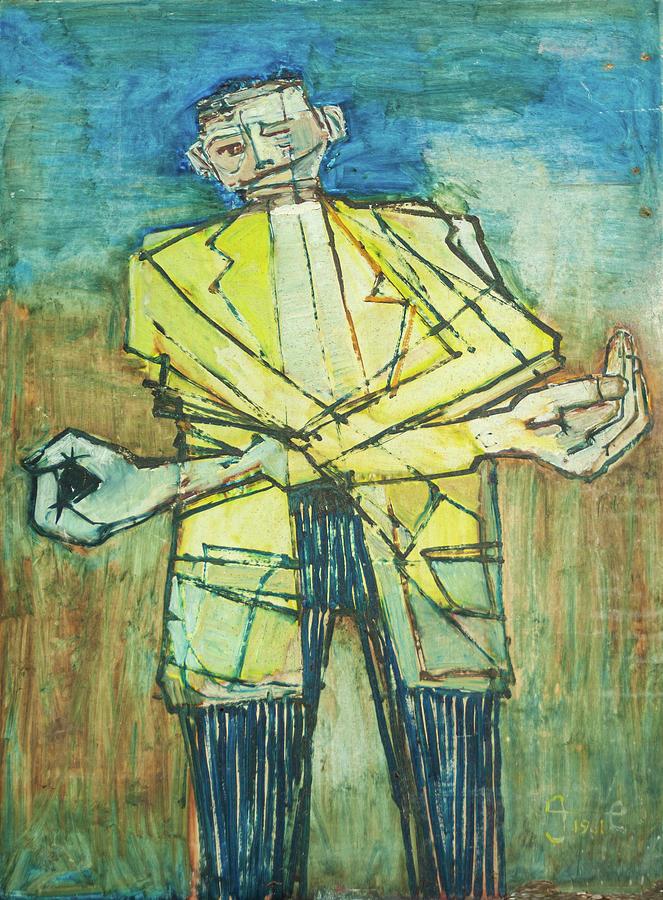Teenager Sings Auld Lang Syne Painting