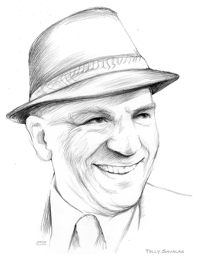 Telly Savalas Drawing - Telly by Greg Joens