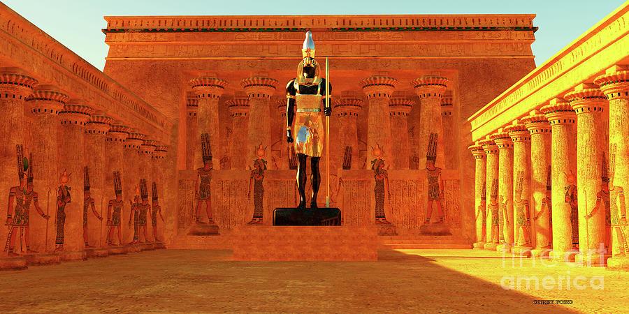 Temple Of Horus Digital Art