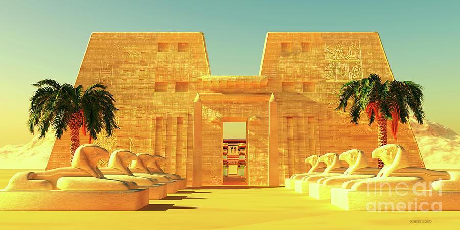 Temple Of Horus Exterior Digital Art