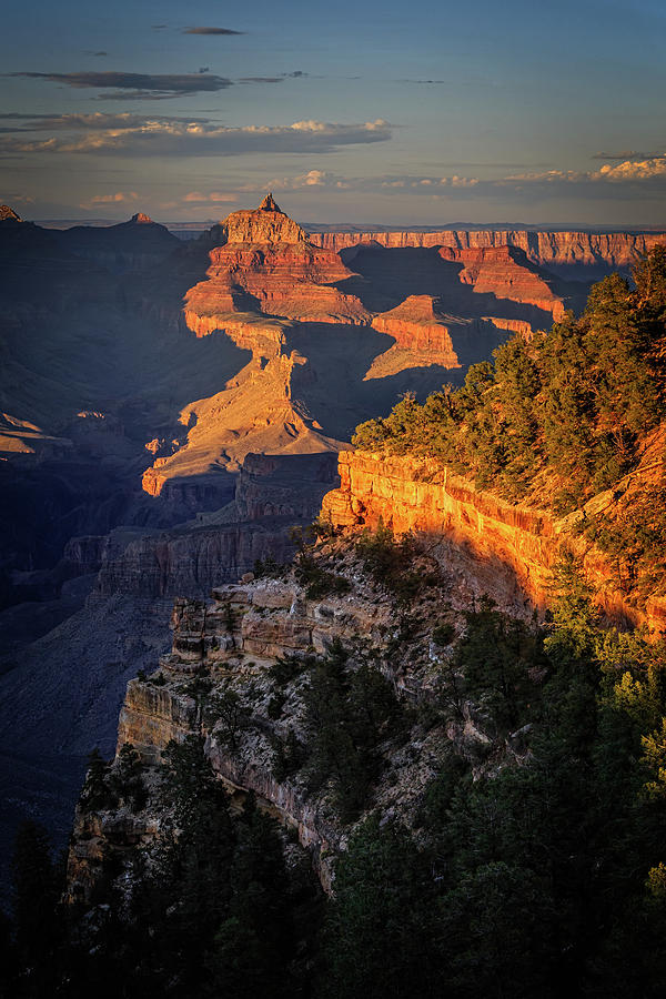 Arizona Photograph - Temple Sunset by Jack and Darnell Est