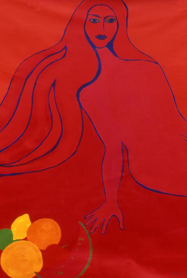 Figure Painting - Temptation by Ingrid Torjesen