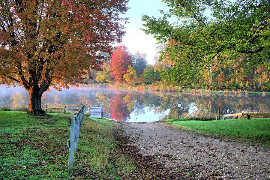 Lake Photograph - Temptations Of Autumn by Bonfire Photography