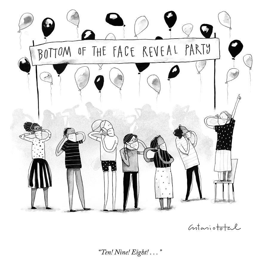 Ten Nine Eight Drawing by Juan Astasio