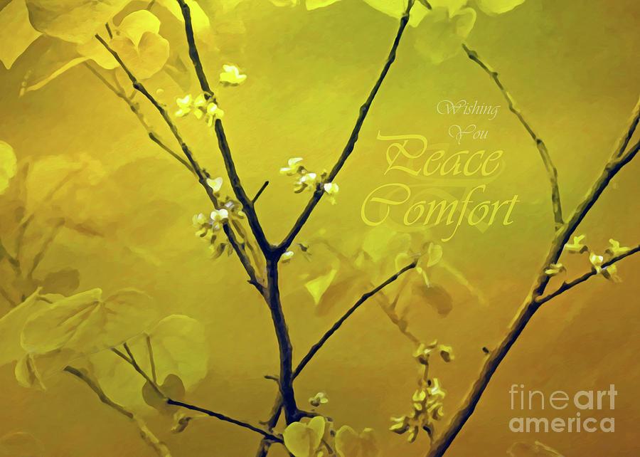 Prayers Photograph - Tender Redbud, 5x7 Peace And Comfort by Banyan Ranch Studios
