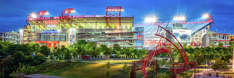 Tennessee Stadium In Nashville Panorama Photograph