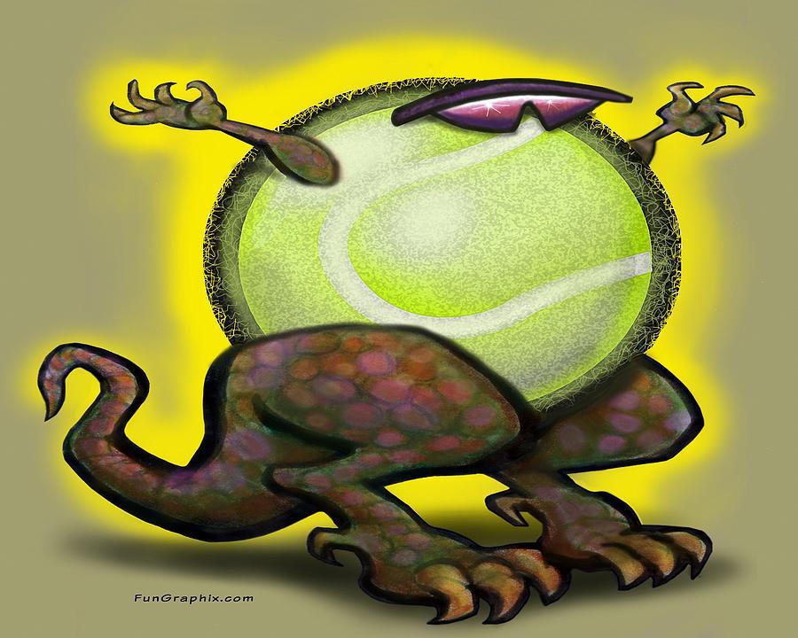 Tennis Beast Digital Art