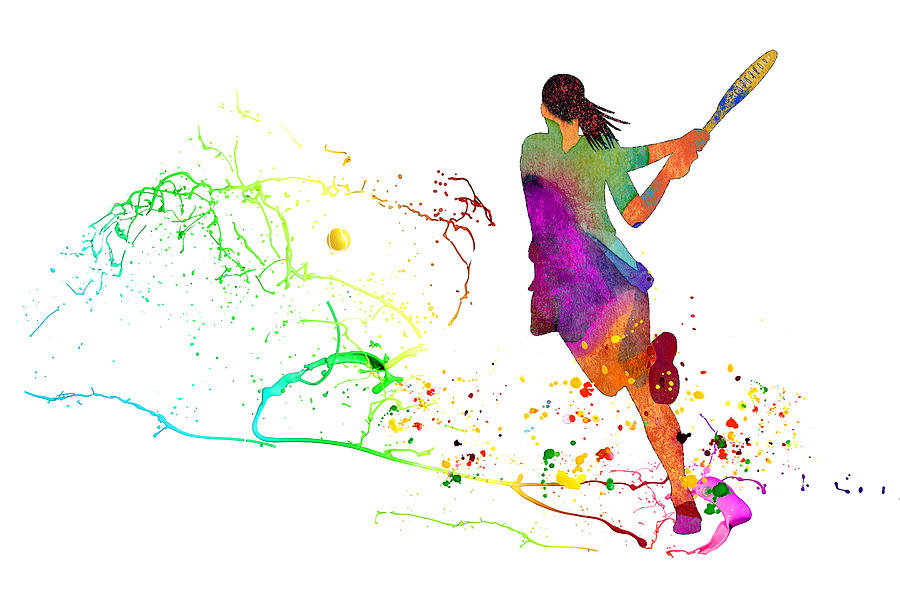 Tennis Fun 01 by Miki De Goodaboom