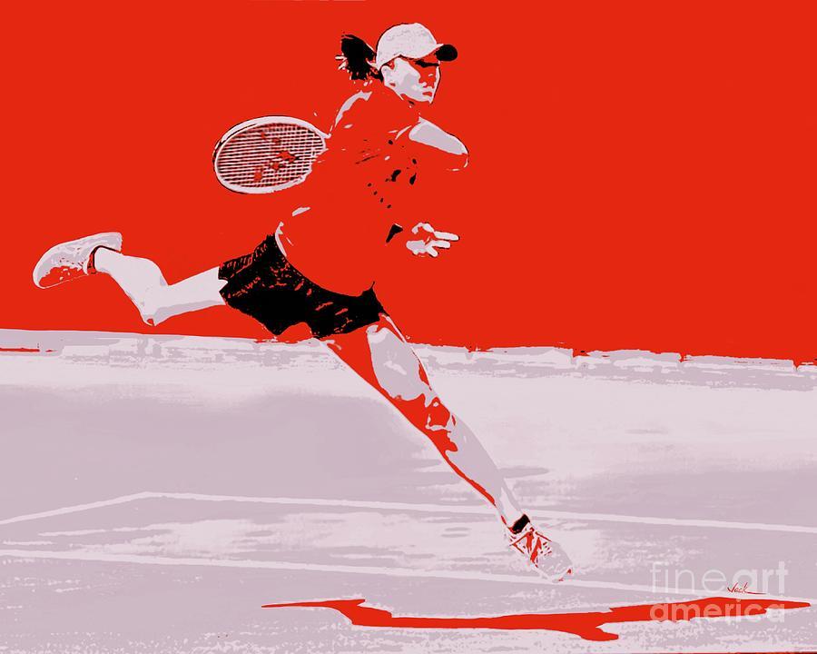 Tennis Painting - Tennis Smash by Jack Bunds