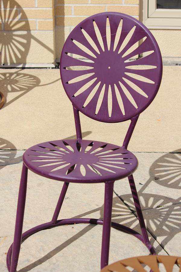 Chair Photograph - Terrace Chair, University Of Wisconsin by Callen Harty