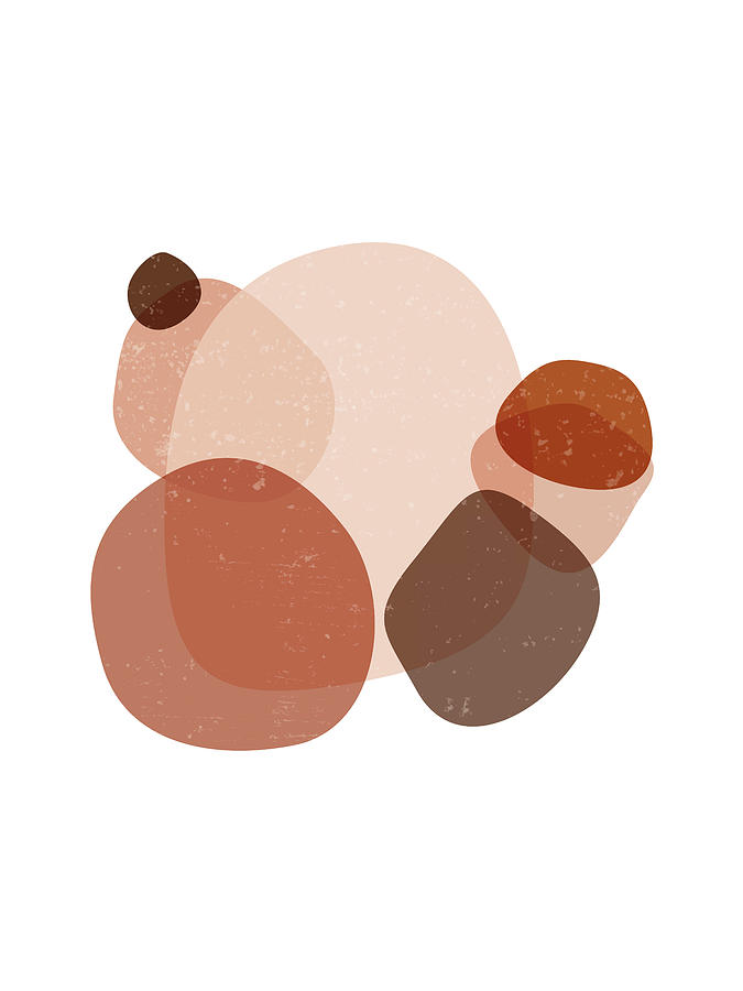 Terracotta Mixed Media - Terracotta Abstract 32 - Modern, Contemporary Art - Abstract Organic Shapes - Brown, Sienna by Studio Grafiikka