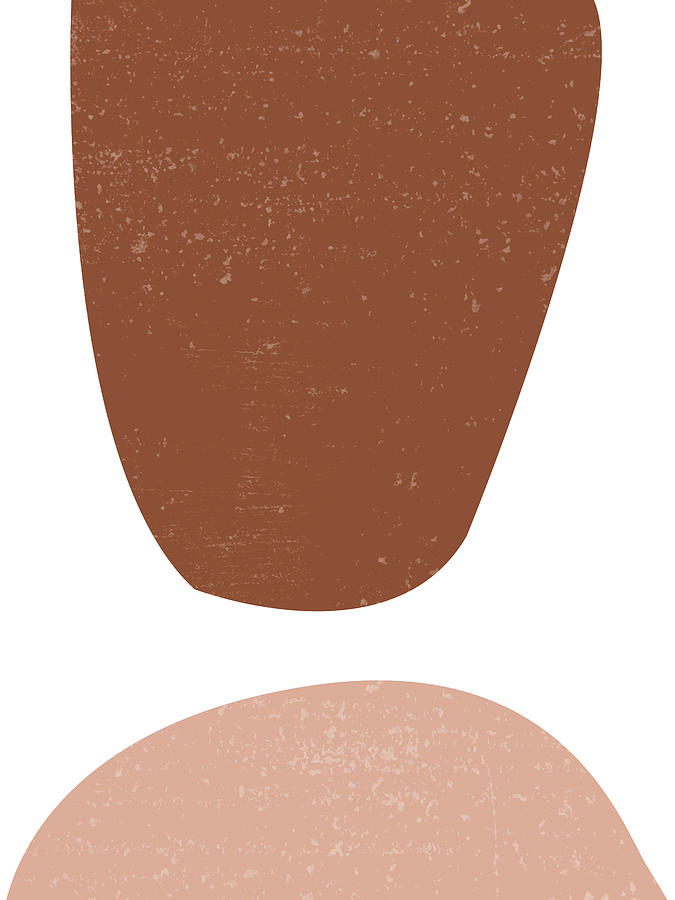 Terracotta Abstract 47 - Modern, Contemporary Art - Abstract Organic Shapes - Brown, Burnt Sienna Mixed Media