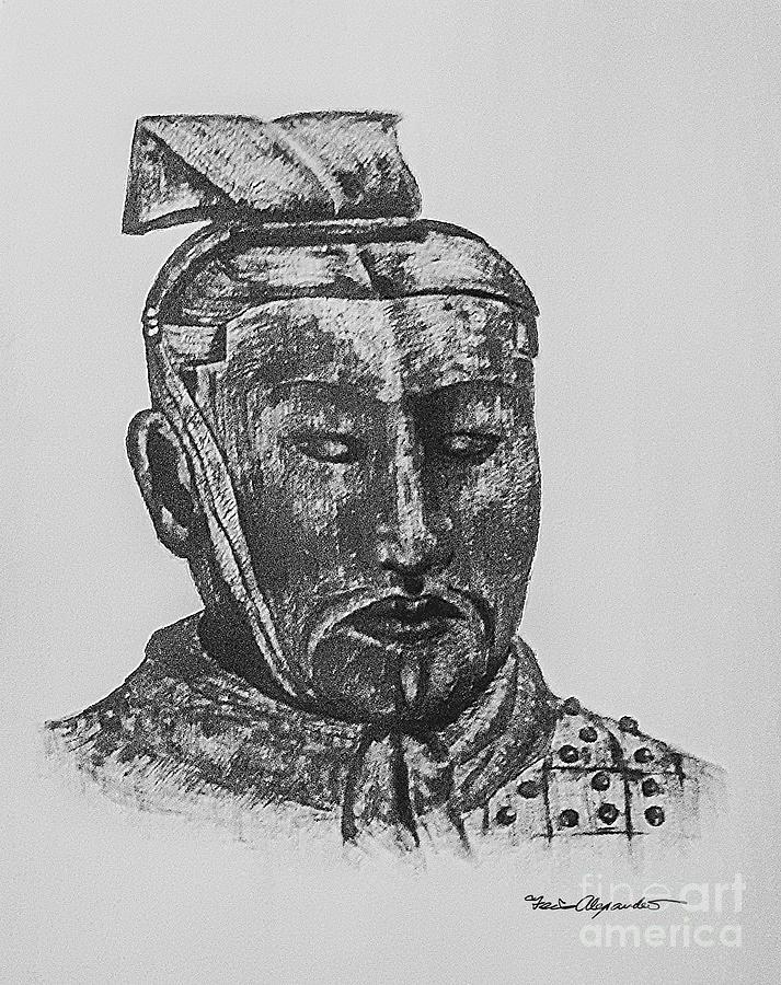 Terracotta Sketches Bw Digital Art