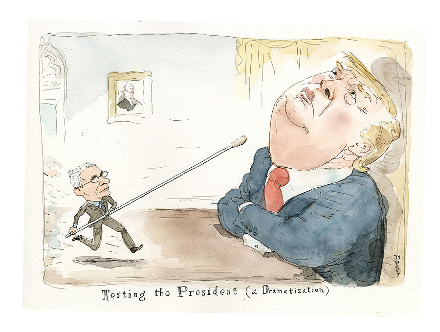 Testing Trumps Fitness Painting by Barry Blitt
