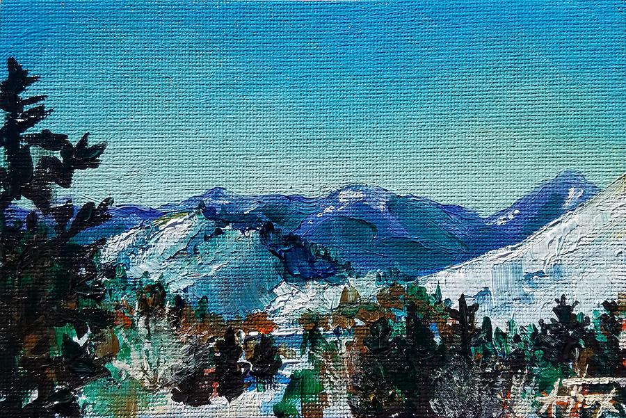 Tetons Painting - Teton View by Allison Fox