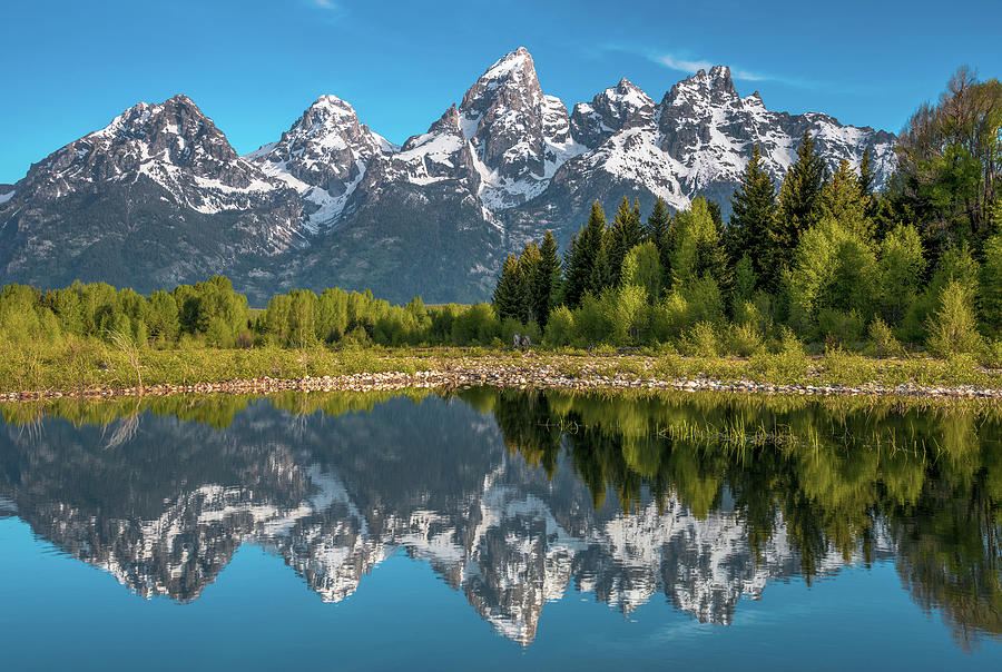 Tetons In Color Photograph