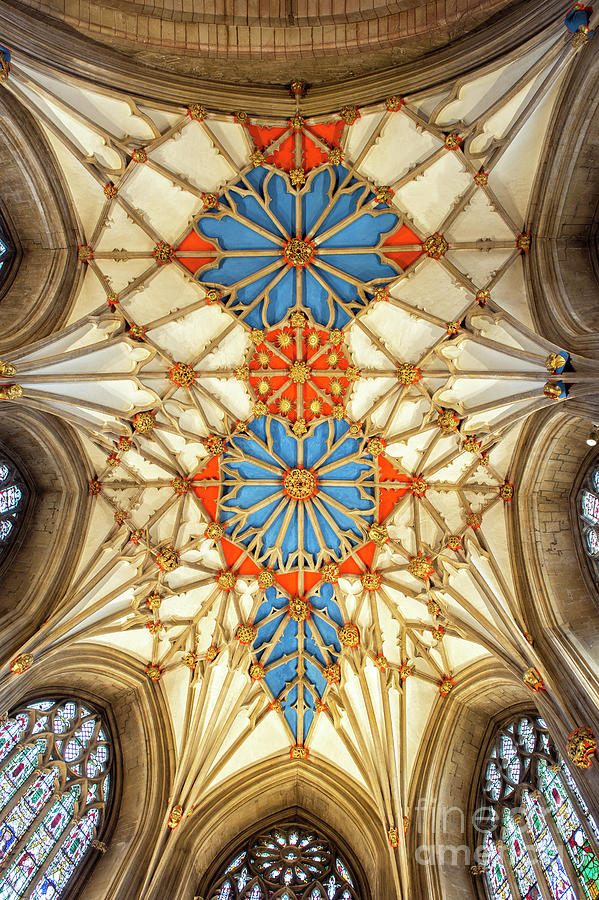 Tewkesbury Abbey Chancels Vaulted Ceiling by Tim Gainey