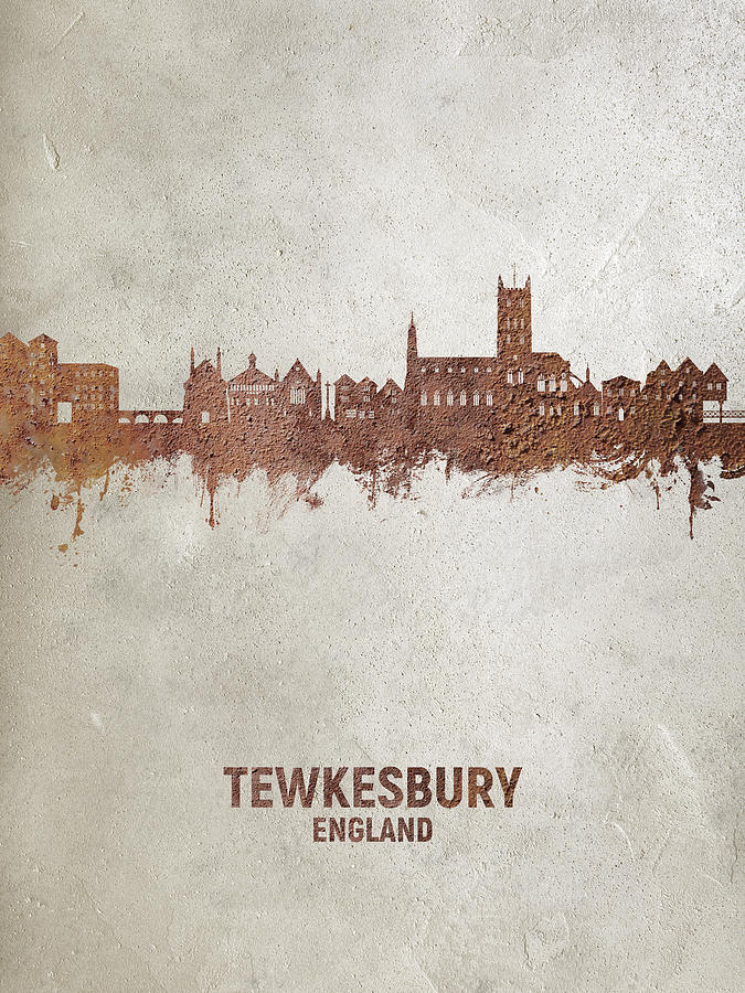 Tewkesbury Digital Art - Tewkesbury England Skyline #20 by Michael Tompsett