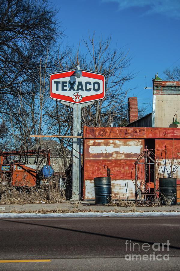 Texaco Sign by Tony Baca