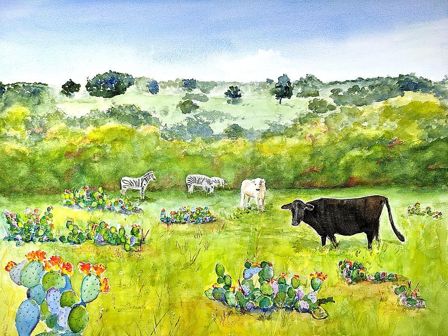 Texas Exotic Landscape by Carlin Blahnik CarlinArtWatercolor