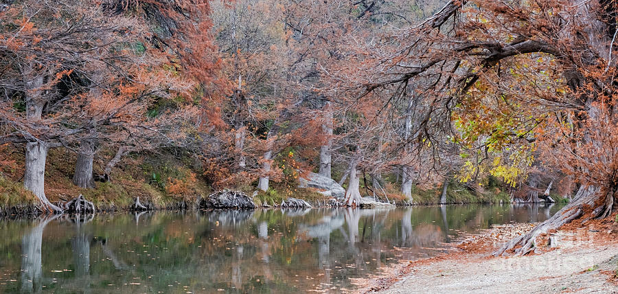 Texas Fall on Guadalupe River by Kanokwalee Pusitanun