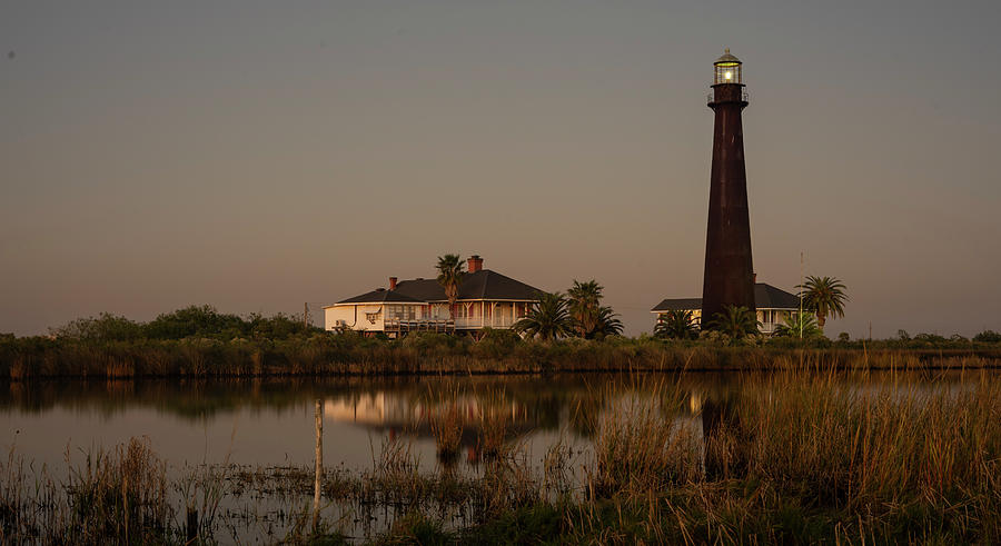 Texas Lighthouse at Sunset by Joshua House
