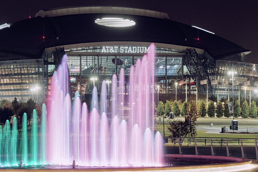 Texas Live ATT Stadium Fountain112719 by Rospotte Photography