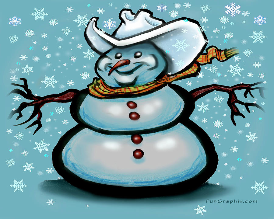 Texas Snowman 2021 Digital Art
