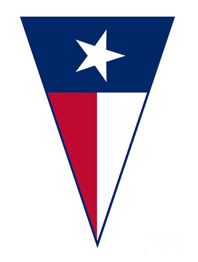 Texas Digital Art - Texas State Flag As Bunting Triangle by Bigalbaloo Stock