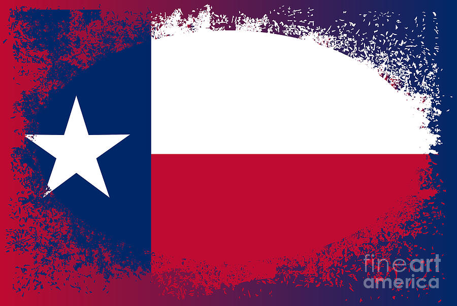 Texas Digital Art - Texas State Oval Grunge by Bigalbaloo Stock