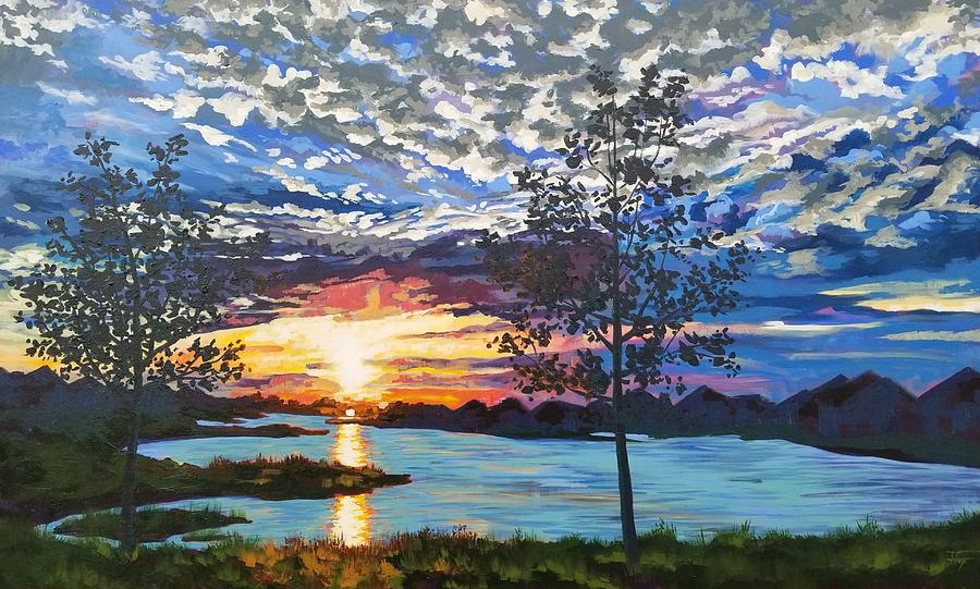 Sunset Painting - Texas Twilight by Allison Fox