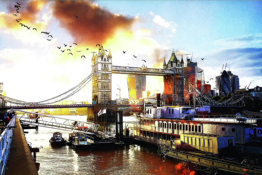 Thames at tower bridge by Orenda Pixel Design