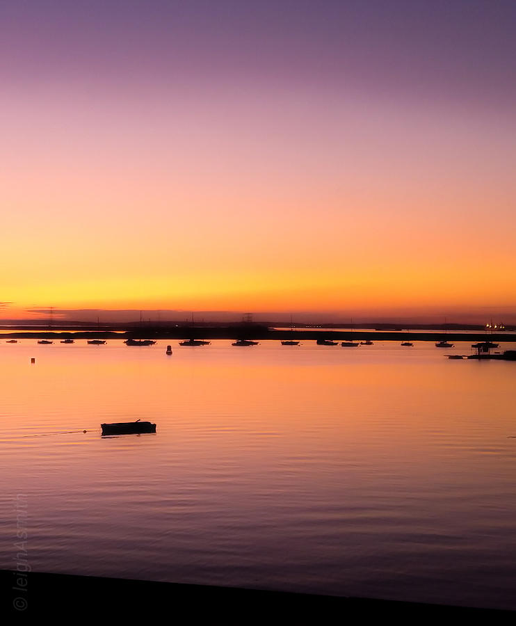 Thames Photograph - Thames Estuary from Queenborough  by Leigh Smith