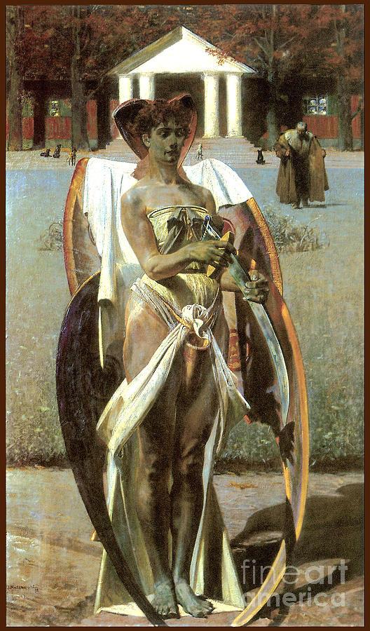Pre Raphaelite Painting - Thanatos 1 1898 by Jacek Malczewski
