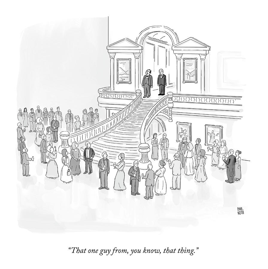 That One Guy Drawing by Paul Noth