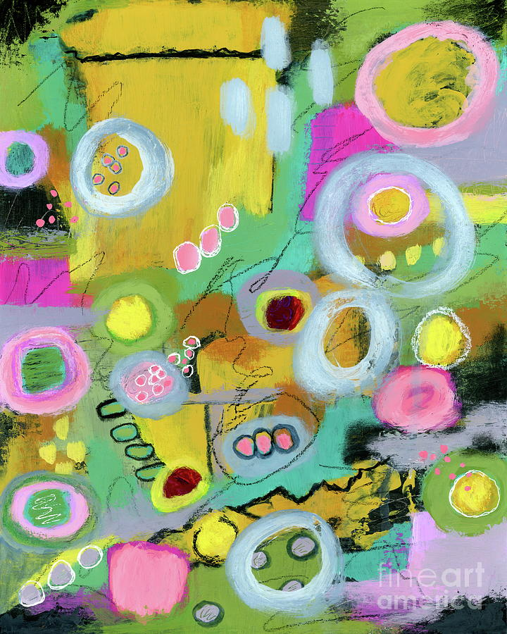 Abstract Expressionist Painting - That Place I Long For Abstract Expressionist Painting by Itaya Lightbourne